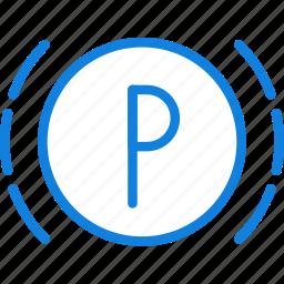 car, parking, part, sensor, vehicle icon