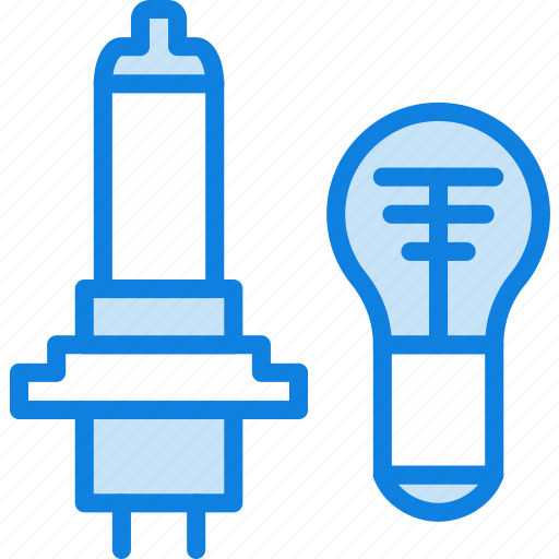 bulb, car, light, part, vehicle icon