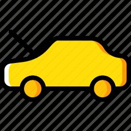 bonnet, car, open, part, vehicle icon