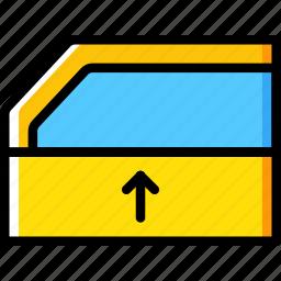 car, part, rise, vehicle, windows icon