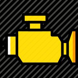 car, engine, part, vehicle, warning icon
