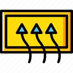 car, defrost, part, rear, vehicle icon
