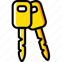 car, keys, part, vehicle icon