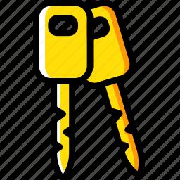 car, keys, part, vehicle icon