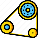 belt, car, engine, part, vehicle icon