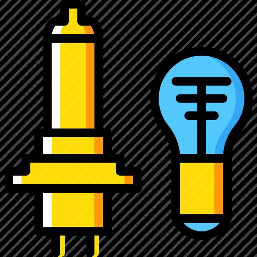 bulb, car, light, part, vehicle icon
