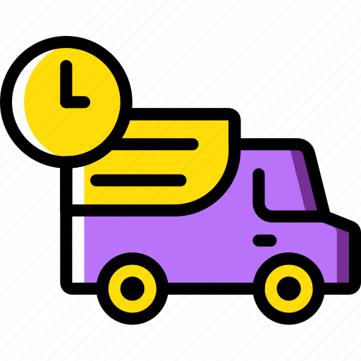 deliver, delivery, in, shipping, time, transport icon