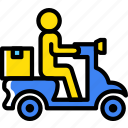 delivery, scooter, shipping, transport icon