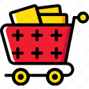 cart, delivery, full, shipping, transport icon