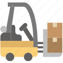 delivery, forklift, shipping, transport