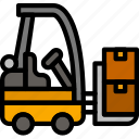 delivery, forklift, shipping, transport icon