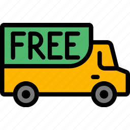 delivery, free, shipping, transport icon