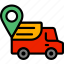 deliver, delivery, location, shipping, transport icon
