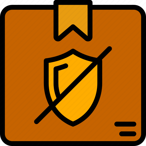 delivery, not, secure, shipping, transport icon