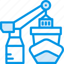 delivery, forklift, port, shipping, transport icon