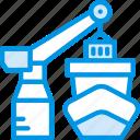 delivery, shipping, forklift, port, transport