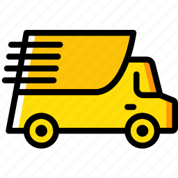 delivery, fast, shipping, transport icon