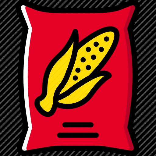 agriculture, corn, farming, garden, nature, sack icon