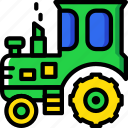 agriculture, farming, garden, nature, tractor icon