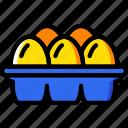 agriculture, carton, egg, farming, garden, nature icon