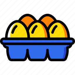 agriculture, carton, egg, farming, garden, nature icon