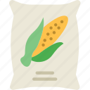 agriculture, corn, farming, garden, nature, sack icon