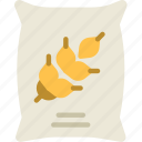 agriculture, farming, garden, grains, nature, sack icon