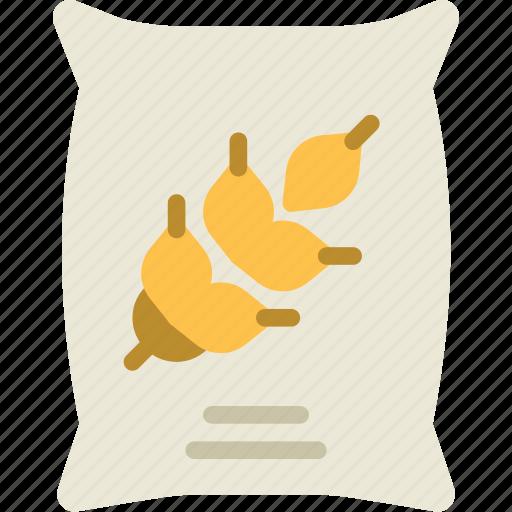 agriculture, farming, garden, grains, nature, sack icon