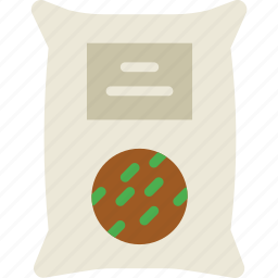 agriculture, farming, garden, nature, sack, seeds icon