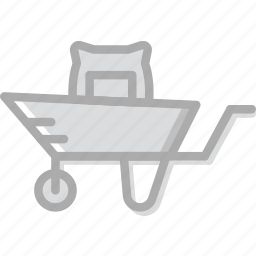 agriculture, farming, full, garden, nature, wheelbarrow icon