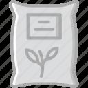 agriculture, farming, garden, nature, plant, sack icon