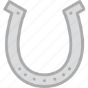 agriculture, farming, garden, horseshoe, nature icon