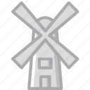 agriculture, farming, garden, nature, windmill icon
