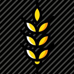 agriculture, farming, garden, grains, nature icon