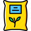agriculture, farming, garden, nature, plant, sack icon