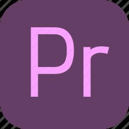 adobe, document, extension, file, premiere, pro icon