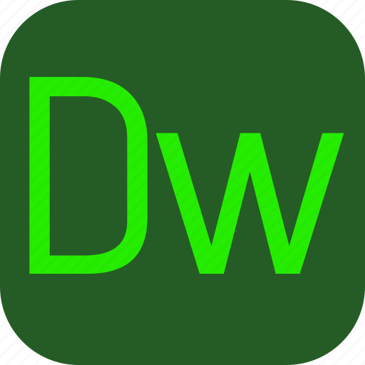adobe, document, dreamweaver, extension, file icon
