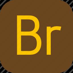 adobe, bridge, document, extension, file icon