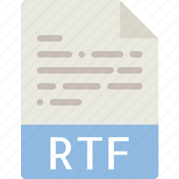 data, document, extension, file, rtf icon