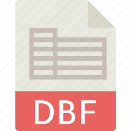 data, dbf, document, extension, file, table icon