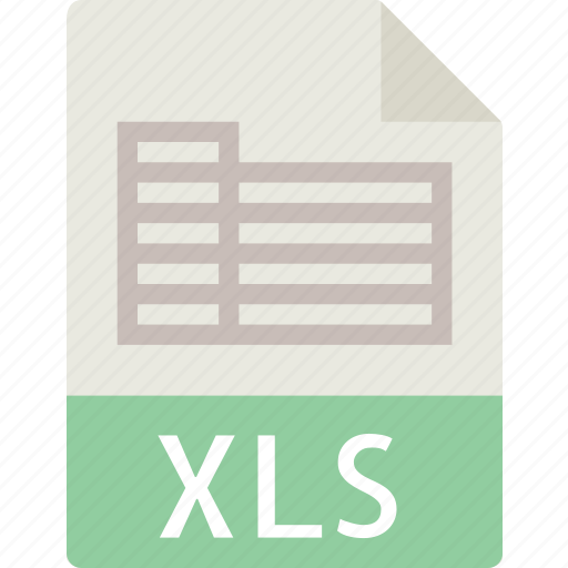data, document, extension, file, table, xls icon