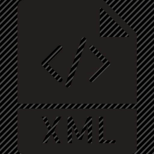 data, document, extension, file, xml icon