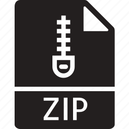 data, document, extension, file, zip icon
