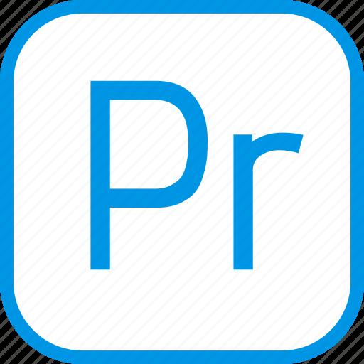 adobe, data, document, extension, premiere, pro icon