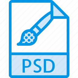 data, document, extension, file, psd icon