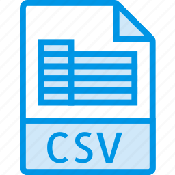 csv, data, document, extension, file icon