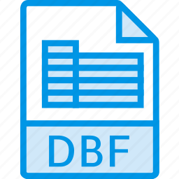 data, dbf, document, extension, file icon