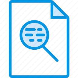 data, document, extension, file, search icon