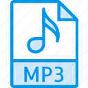 data, document, extension, file, mp3 icon