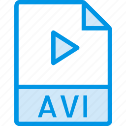 avi, data, document, extension, file icon